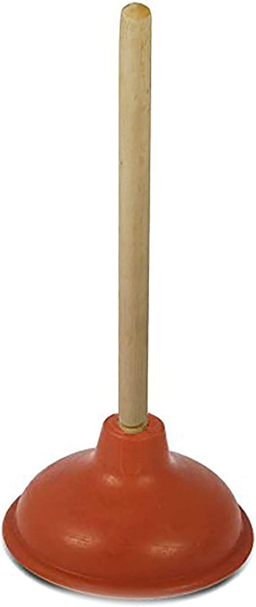 Toilet and Sink Plunger Wooden Handle Strong Light Weight Great Value!