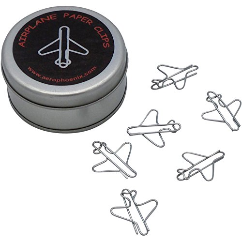 Jet Airplane Paper Clips