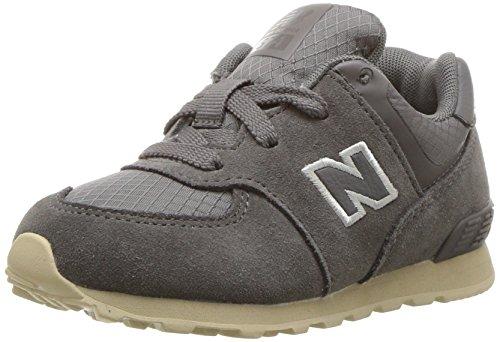 New tan Balance E Per Sneakers Bambine Kl574 Ragazze Grey qAzq7wfx
