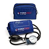 Professional Manual Blood Pressure Cuff - Aneroid Sphygmomanometer with Durable Carrying Case by Paramed - Lifetime Calibration for Accurate Readings - Dark Blue
