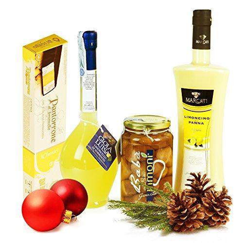Italian Gift Basket: Limoncello Sorrento - Cream - Babà - Torrone