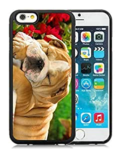 Popular Design Case Cover For Apple Iphone 5C Christmas Dog Black Hard Case 32