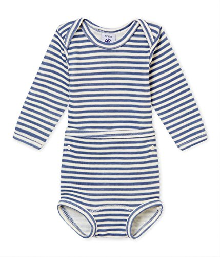 - Petit Bateau Boys Long Sleeves 2 PC.Boys Striped Bodysuit Sizes 3-36 Months Style 44947/02B (Size 12/M Style 44947/02B)