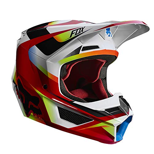 2019 Fox Racing V1 Motif Men's Off-Road Motorcycle Helmet - Red/White / Large (Best Cycle In The World 2019)