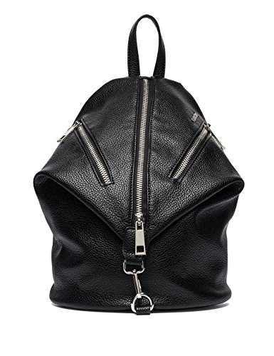 Replay Women's Women's Faux Leather Black Backpack Black by Replay