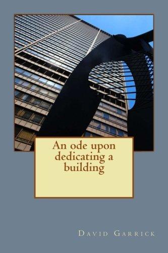 An ode upon dedicating a building