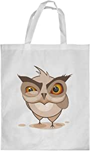 Printed Shopping bag, Large Size, Cartoon Drawings - Owl