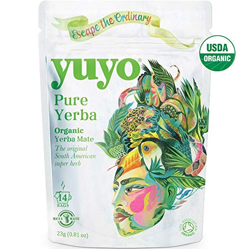 Yuyo - Pure Organic Yerba Mate, 14 Tea Bags (2 Pack)
