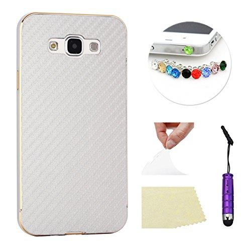Slim Shockproof Case for Samsung Galaxy E7 (Silver) - 5