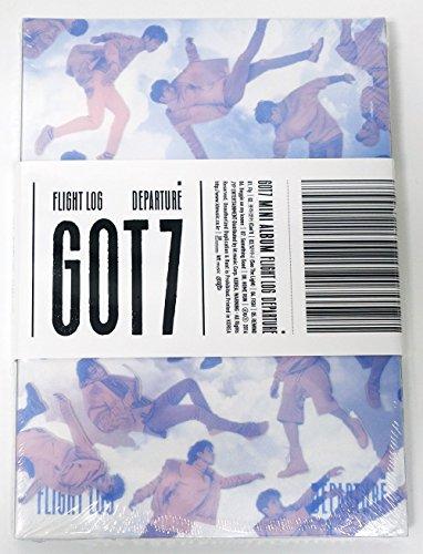 GOT7 - FLIGHT LOG : DEPARTURE [Serenity Quartz Ver.] CD + 100p Photobook + Official Photocard + Official Folded Poster + Got7 Postcard + Sticker + Extra Photocard