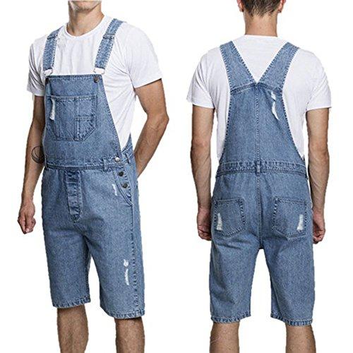 Combinaisons Short Combishort Bleu Fashion Pantalon Denim Dihope Vintage Clair Loisir Casual Homme En Pants Overalls Salopette Jeans wHZ1Uq4