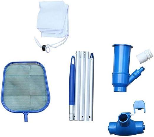 UNiiyi Juego de Herramientas de Limpieza de Piscinas Aspirador de Piscina portátil para SPA Cepillo de Limpieza Cepillo de Escoba Juego de Accesorios de Limpieza (Azul): Amazon.es: Jardín