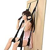 Couple Self Pleasure Toys for Adult Se-x - Swing Set Accessories Holds up to 500 lbs, Deluxe Romantic Adult Swing Toys with Comfortable Seat & Leg Pads, Black