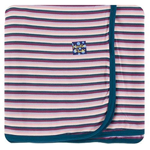 Kickee Pants Little Girls Print Swaddling Blanket - Girl Anniversary Stripe, One Size (Anniversary Stripes)