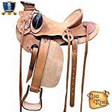 HILASON Western Horse Wade Saddle Leather Ranch Roping Tan Kote