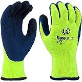 UCi KOOLgrip Gants avec revêtement thermique en latex pour protéger la palme des mains Idéal contre le froid de l'hiver/bonne adhérence, 9 - Large, jaune, 300