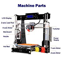 3D Printers, Trovole A8-W5 Pro DIY LCD Screen Desktop 3D Printer Kit with Shockproof Aviation Wood Frame, Free 1.75mm ABS/PLA Printer Filament(Build Size 220×220×240mm) by CTC