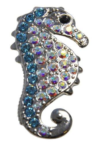 (Navika Seahorse Swarovski Crystal Ball Marker with Hat Clip (Blue))