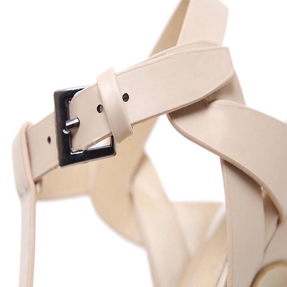 134e544dd24 Tacones altos para mujeres Primavera y verano Nuevo Sandalias de boca de  pescado de moda de tacón alto Plataforma impermeable Hueco de punto Zapatos  Negro y ...