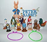 Famous Books Peter Rabbit Deluxe Figure Set of 14 Toy Kit with Figures and Toy BunnyBracelets Featuring Peter, His 3 Sisters, Tommy Brock, Nutkin, Mr.Tod and Many More!