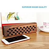 Guzack Bluetooth Speaker, Wireless Bluetooth 4.1 Stereo Speaker, Elegant Wood Grain Design, Super Portable & Rechargeable Built-in Microphone for Calls for iPhone, iPad, Samsung, Echo, LG and others
