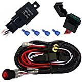 MICTUNING MIC-B1002 LED Light Bar Wiring Harness, 30 AMP Fuse On-off Waterproof Switch