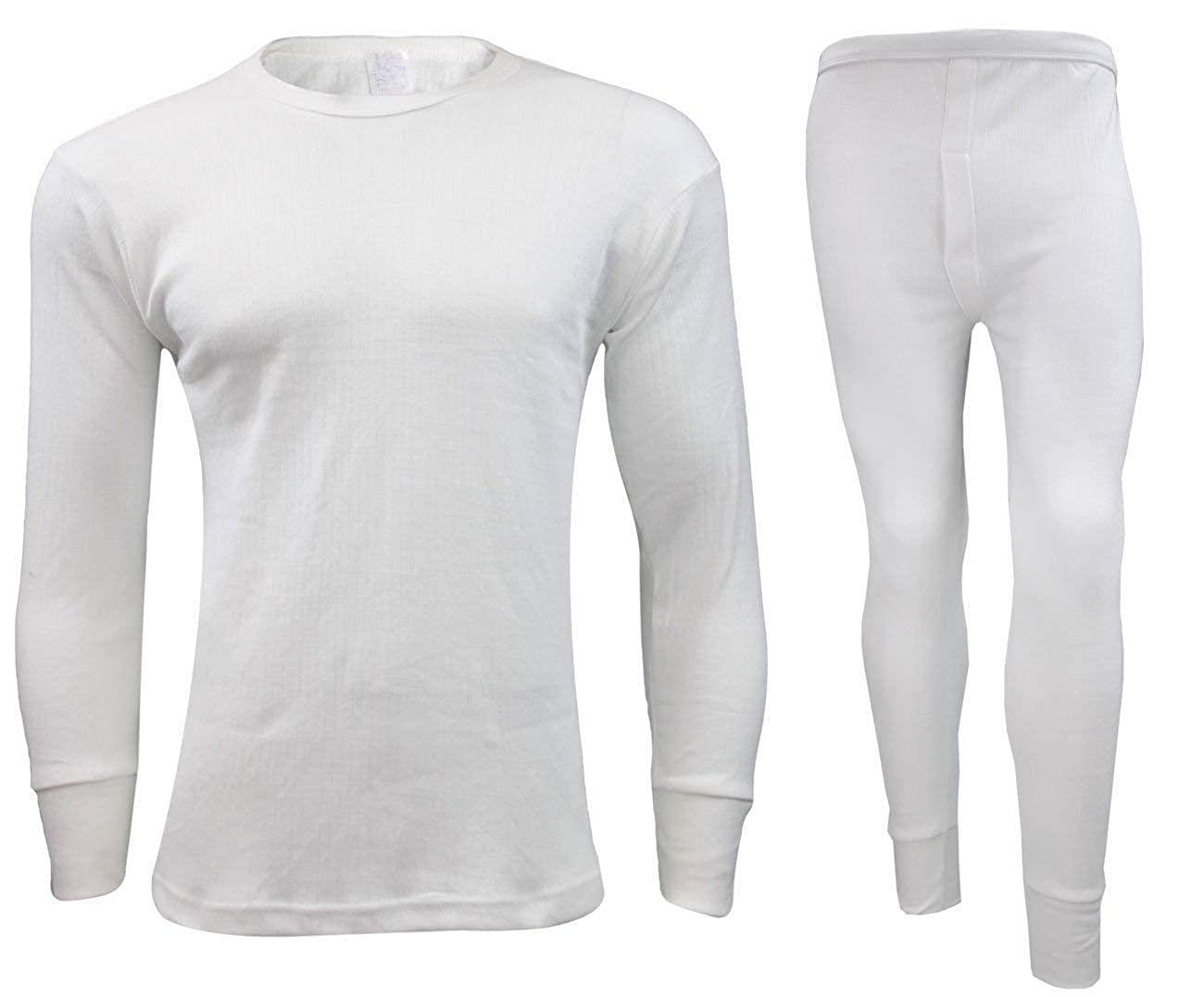 Men's Thermal Underwear Set - Full Long Sleeve Vest Top and Long Johns Bottoms Perfect Heat Micro Winter Underwear