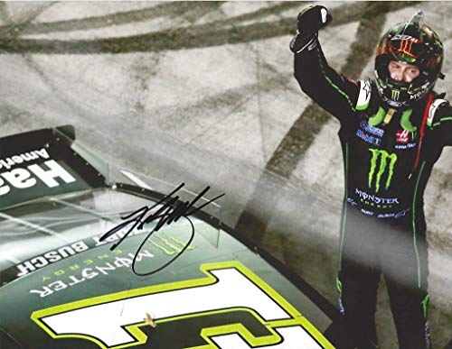 Nascar Racing Collectibles - AUTOGRAPHED 2018 Kurt Busch #41 Monster Energy Racing BRISTOL NIGHT RACE WINNER (Victory Celebration) Stewart-Haas Team Signed Collectible Picture NASCAR 9X11 Inch Glossy Photo with COA