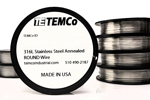 TEMCo Stainless Steel Wire SS 316L - 32 Gauge Non-Resistance AWG ga