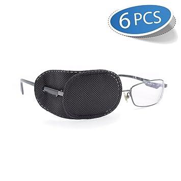 8b09a70e5ad8 Amazon.com : FCAROLYN 6pcs Eye Patch for Glasses to Treat Lazy Eye/Amblyopia  / Strabismus, Black : Beauty
