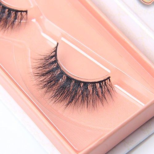 05757d3e7a2 Arimika Lightweight Natural Look 3D Mink False Eyelashes For Makeup 1 Pair  Pack