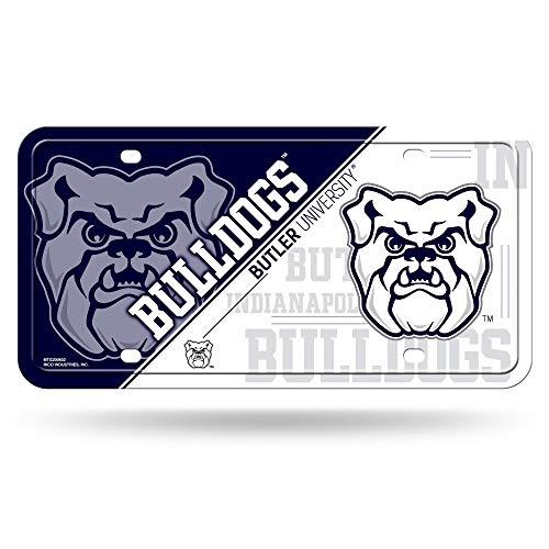 NCAA Butler Bulldogs Metal License Plate Tag