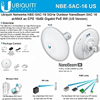 Ubiquiti NanoBeam 5ac NBE-5AC-16 US 5GHz Outdoor airMAX ac 16dBi Gigabit PoE