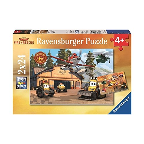 Ravensburger Disney Planes Fire & Rescue: Always in Action - 2 x 24-Piece Jigsaw Puzzle for Kids – Every Piece is Unique, Pieces Fit Together Perfectly