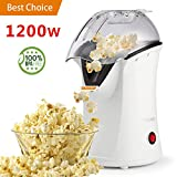 Popcorn Popper, Hot Air Popcorn Maker, 1200W Popcorn Machine with Measuring Cup, Removable