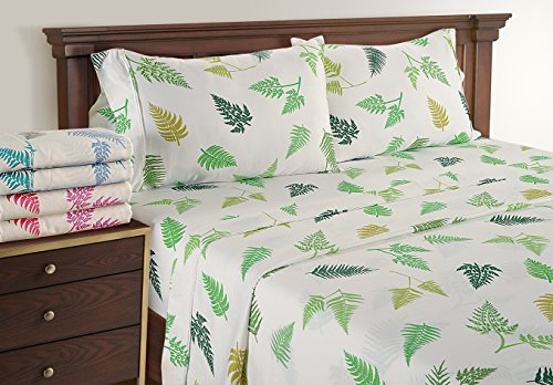 300tc Luxury Sheet Set (Amazon New Year Home Collection Deals - Discounted Bed Set by Linenwalas - Super Soft 300TC Cotton Hotel Luxury Bed Sheet Set Cal King - Neon Green)
