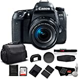 Canon EOS 77D DSLR Camera with 18-55mm Zoom Lens 24.2 MP CMOS - Standard Bundle - International Version (No Warranty)