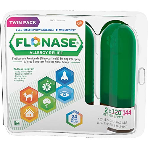 Flonase Allergy Relief Nasal Spray, Allergy Medicine 24 Hour Non-Drowsy , 288 sprays (pack of 2) (Best Otc Anti Inflammatory Medicine)