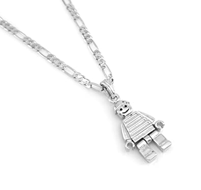 Hip hop mat finish silver tone lego man pendant necklace 24 chain hip hop mat finish silver tone lego man pendant necklace 24quot aloadofball Images
