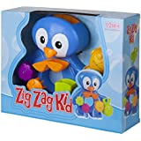 Bath Toys For Toddlers By ZIG ZAG KID - Fun Penguin BathTub Toy - Interactive & Educational Toddler Toy! Non-toxic, Safe, BEST Toddler Bath Toy for Kids - Gift-boxed Fun Baby Bath Toy For Girls & Boys