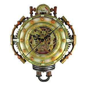 Cool 3-D Steampunk Wall Clock Steam Punk Sci-Fi