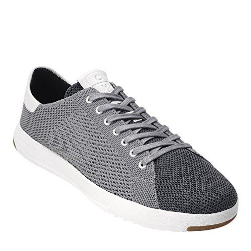 Cole Haan Men's Grandpro Tennis Stitchlite Sneaker, Magnet/Optic White, 8.5 Medium US