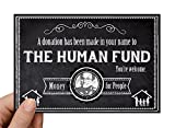 "Seinfeld Card ""The Human Fund"" Gift Notification Card Pack of 5"