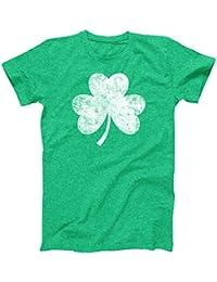 Vintage Style Distress Heather Irish Green Shamrock T-Shirt St Patricks Day Ireland Pride