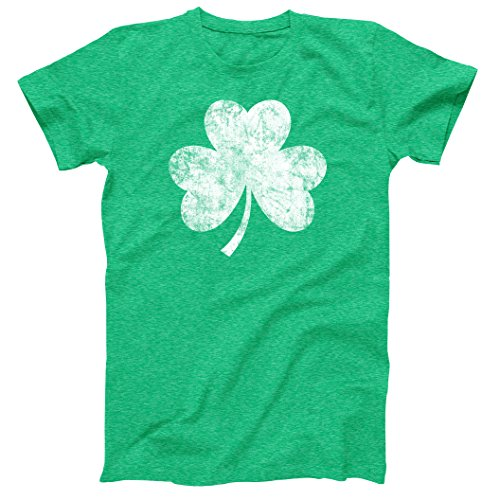 Vintage Style Distress Heather Irish Green Shamrock T-Shirt St Patricks Day Ireland Pride Medium -