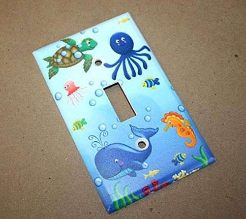 Ocean Creatures Kids Bathroom Bedroom Light Switch Cover LS0035 Single Decora
