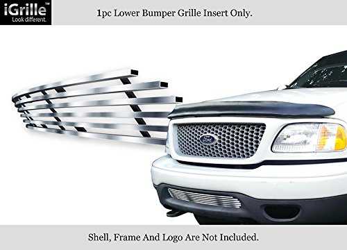 APS for 99-03 Ford F-150 4WD/Expedition Bumper Stainless Steel Billet Grille #N19-C58058F ()