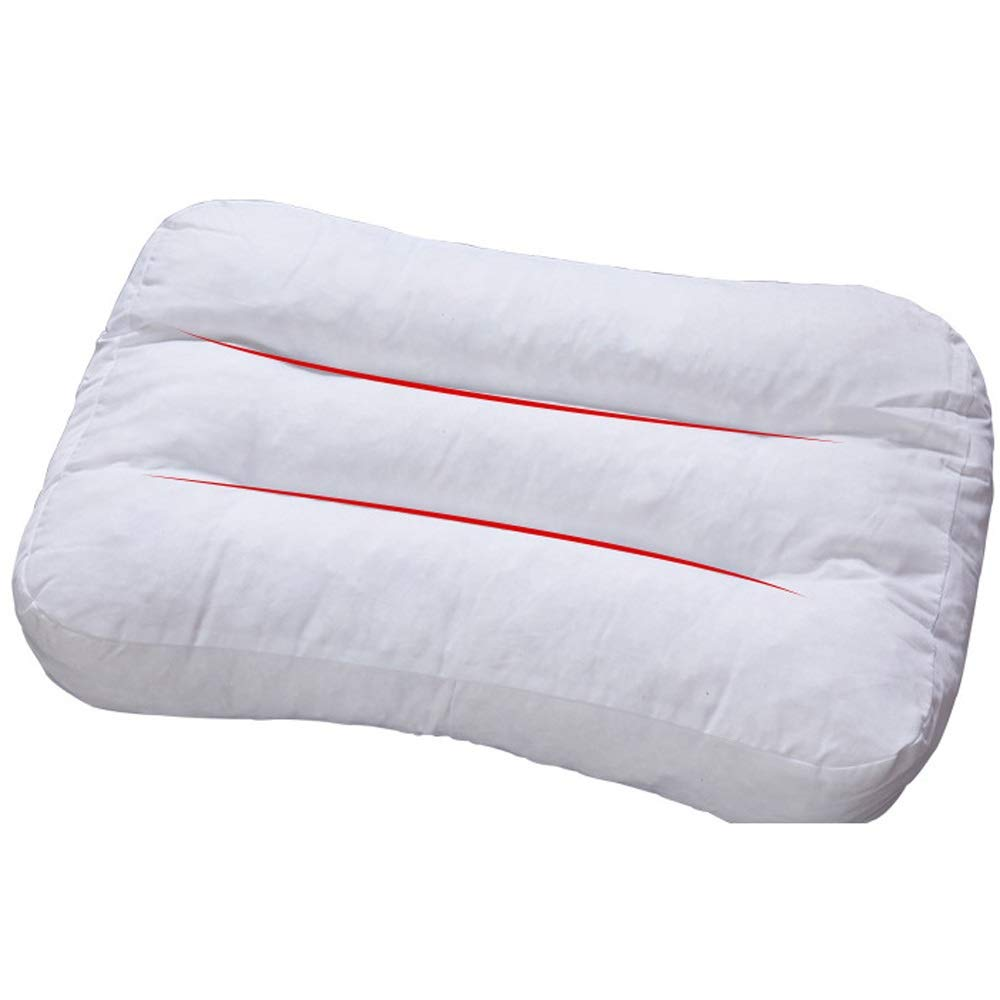 WTGG-Home Textile Latex Pillow - A Pair of Three-Dimensional Knitted Broken Latex Pillow Broken Particles Pillow core Latex Memory Pillow into a Single Double Student Cervical Pillow /&