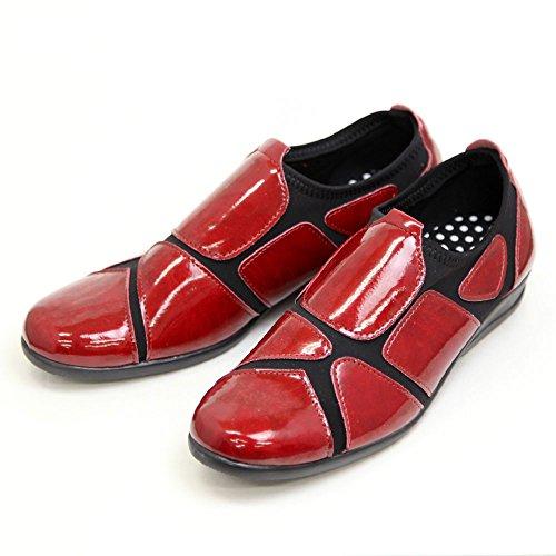発音する血統請負業者ストレッチシューズ レディース 歩きやすい 外反母趾 靴 ウォーキングシューズ エナメルSC1802