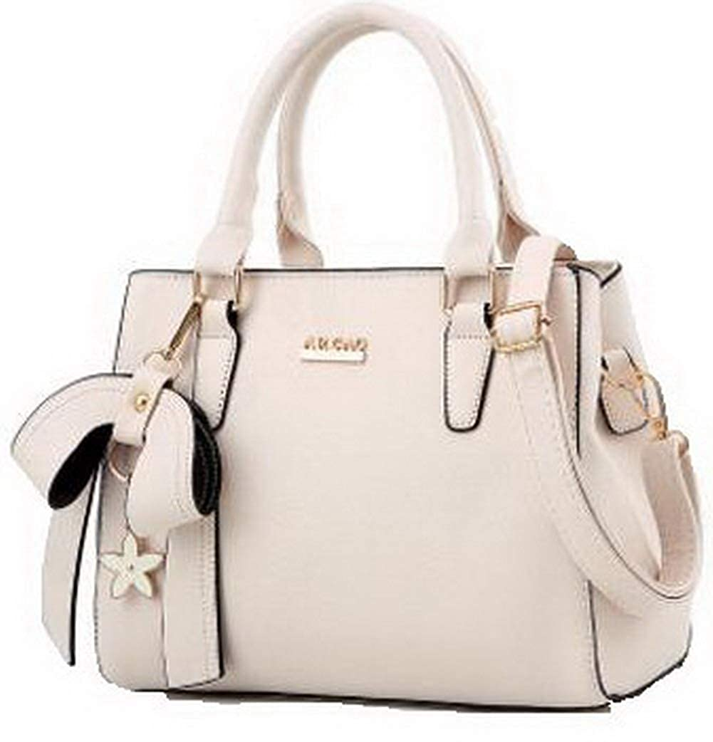 Beige WeiPoot Women's Shopping Crossbody Bags Dacron Zippers Tote Bags, EGHBG181799